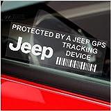 Platinum Place 5 Adesivi per finestrino, per Jeep, Scritta GPS Tracking Device, 87 x 30 mm, per la Sicurezza - Modelli Grand Cherokee, XK, KJ, Patriot, Wrangler, Renegade