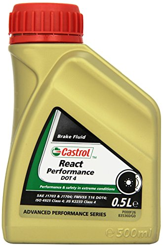Castrol 21878, liquido per freni React Performance Dot 4, 500 ml