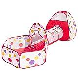 Simboom Tiendas de campaña para niños, Pop Up Tienda de Juegos Plegable con Casita Infantil, Tunel Infantil, Piscina de Bolas (Bolas NO Incluido)