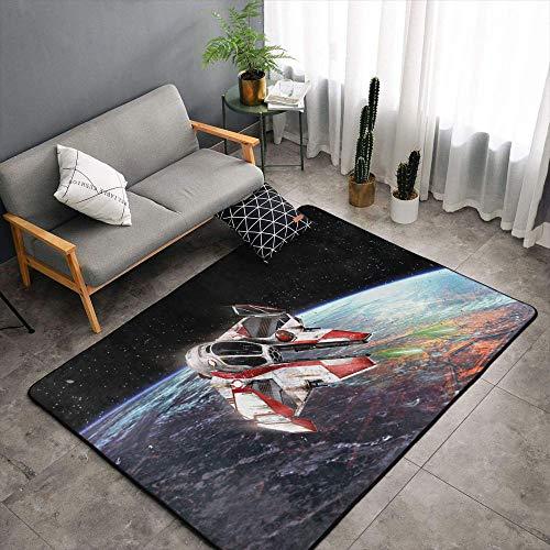 Matt Flowe Star Wars, alfombra de dormitorio de 6 pies x 8 pies de Star Wars, extra grande, para sala de estar y habitación de niños