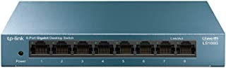TP-Link LS108G - Switch 8 Puertos (10/100/1000) Switch ethernet, Switch gigabit, Carcasa metálica, Ultraligero con Super d...