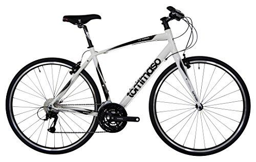 Tommaso La Forma Lightweight Aluminum Hybrid Bike -White/Black - XXS