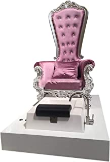 European Style Pedicure Chairs For Technician 2019 New Design King ThroneRoyalty Royal Chairs With Tub For Beauty Salon With Plumbing Spa Center Used Pedicure Foot Bath Chair (purple)