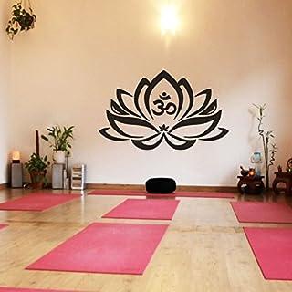 Wand-Tattoo Lotus-Blume mit Om-Zeichen, Yoga, Vinyl, Mandala