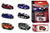 Majorette Assortment Deluxe vehículos Die-Cast, Incluye Caja de Recogida, neumáticos de Goma, Rueda Libre, 6 Modelos Surtidos, Multicolor (212053152)