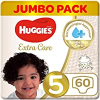 Huggies Extra Care, Size 5, Jumbo Pack, 60 Diapers