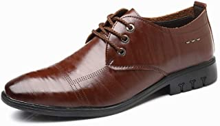 Shangruiqi Men's Business Oxford Casual Comfortable Soft Lightweight Simple Formal Shoes Abrasion Resistant (Color : Brown, Size : 6 UK)