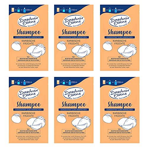 6er Pack Dresdner Essenz Shampoo Konzentrat Karibische Früchte 6 x 40 g Pflegeshampoo vegan
