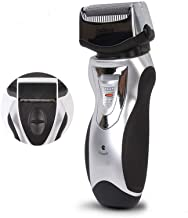Men's Reciprocating Electric Razors Rechargeable Cordless Double Blades One-Key Lock Beard Trimmer Floating Blades Foil Shaver Shaving Machine Grooming Kit,Electric Shaver Razor for Men, Silver