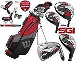 Wilson ProStaff SGI Golfschläger-Set, 2,5 cm lang, Stahlschaft, Graphitschaft