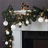 Wohaga Guirnalda de Navidad Abeto Guirnalda luz Cadena 270cm 20 lámparas 16...