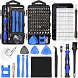 STREBITO Precision Screwdriver Set 124-Piece Electronics Tool Kit with 101 Bits Magnetic Screwdriver Set for Computer, Laptop, Cell Phone, PC, MacBook, iPhone, Nintendo Switch, PS4, PS5, Xbox Repair