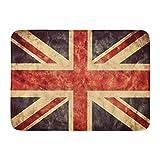 Alfombrillas Alfombras de baño Alfombrilla para Exterior / Interior Británica Reino Unido Bandera Union Jack Vintage Retro HD Artículo de mi colección Alfombra de baño Antigua Alfombra de baño