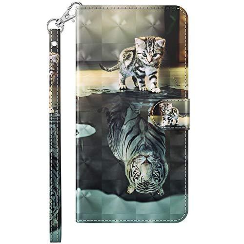 CTIUYA Handyhülle für Samsung Galaxy A7 2018 / A750 Hülle, Schutzhülle Klapphülle Leder Filp Case mit Muster Bunt Kartenfach Magnet Handy Hülle Etui Handytasche für Galaxy A7 2018/A750,Schöne Muster