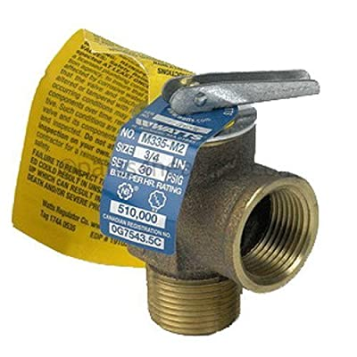 "Watts Regulator 0342692 Boiler Relief Valve 3/4"" 30Psi, bronz by WATTS REGULATOR"