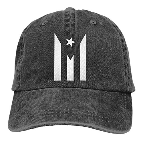 Puerto Rico Resiste Boricua Flag Se Levanta Vintage Baseball Cap Washed Cotton Denim Adjustable Low Profile Dad Hat for Men&Women