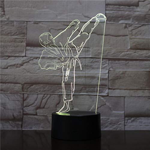 Farbe Nachtlicht kreative Lichtgradienten visuelle Karate Schreibtischlampe Taekwondo Schlafzimmer Beleuchtung Dekoration Dekoration Geschenk