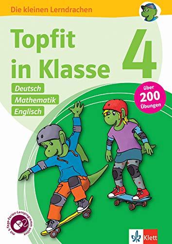 Klett Topfit in Klasse 4: Deutsch, Mathematik, Englisch: Über 200 Übungen für die Grundschule: Übungsbuch für die Grundschule, über 200 Übungen, mit ... online (Die kleinen Lerndrachen)