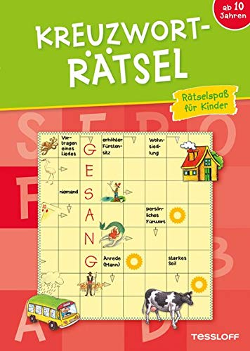 Kreuzworträtsel ab 10 Jahren (Rot) (Rätsel, Spaß, Spiele)