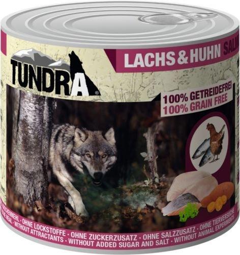Tundra Nassfutter Hundefutter Lachs & Huhn - getreidefrei (6 x 400g)
