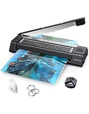 Crenova 13 inches Laminator A3 with Paper Cutter, 40pcs Laminating Sheets photo