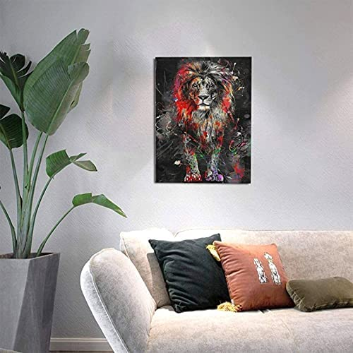 Abstract lion painting _image0