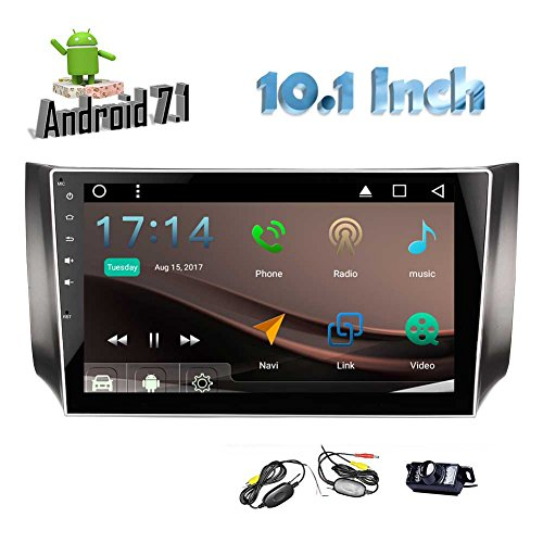 Best Car Stereo for Sylphy 2016 2017! 10.1¡± Android 7.1 Nougat Car Stereo Double Din Quad Core Headunit with GPS Navigation Bluetooth Auto Radio Receiver Mirror Link with Wireless Backup Camera