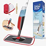 Balai lave sol avec vaporisateur,Aiglam Serpillière pour Nettoyage du Sol en Spray Balai de Pulvérisation Balai Haut de Gamme/Vadrouille (Rouge)