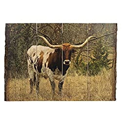 Longhorn ingrained art with blank edge