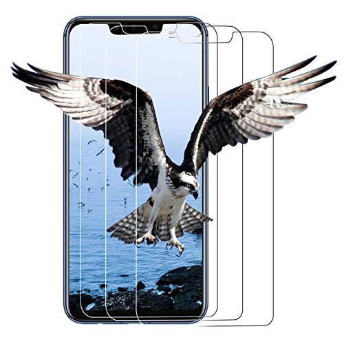 【3 unidades】 Protector de pantalla de cristal templado para Huawei Mate 20 Lite, protector de pantalla, HD, antiaceite y antiarañazos, compatible con Huawei Mate 20 Lite, transparente