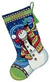 Dimensions Needlecrafts Needlepoint, Happy Snowman Stocking - 71-09143