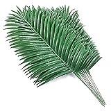 Milkvetch 18 Piezas de Plantas de Hojas de Palmera Artificiales, Hojas de Palmera de ImitacióN, Hojas de Palmera Grandes Tropicales, Planta Verde para Hojas, Fiesta Hawaiana