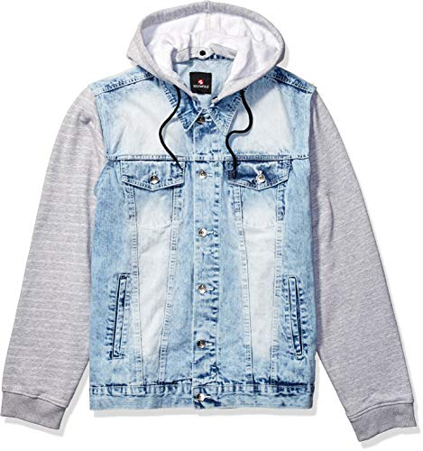 Southpole Men's Big and Tall Fashion Denim Jacket, Light Sand Blue, 4XB