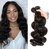 Tissage Bresilien en Lot de 3 Cheveux Bresilienne Naturel Cheveux Humain Vierge Unprocessed Meche Tissage Peruvienne Ondule Longue...
