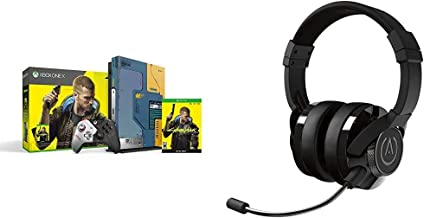 Xbox One X Cyberpunk 2077 Limited Edition Bundle (1TB)&Universal Fusion Headset - Black PS4, Xbox One, PC and Nintendo Switch