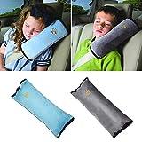 MHwan Auto Sicherheitsgurt Polster, Sicherheitsgurtpolster, Universal Soft Safety Sicherheitsgurt Schulterpolster Kopf Nackenstütze für Kinder Jungen Mädchen, 2 Stück, 10x30 cm