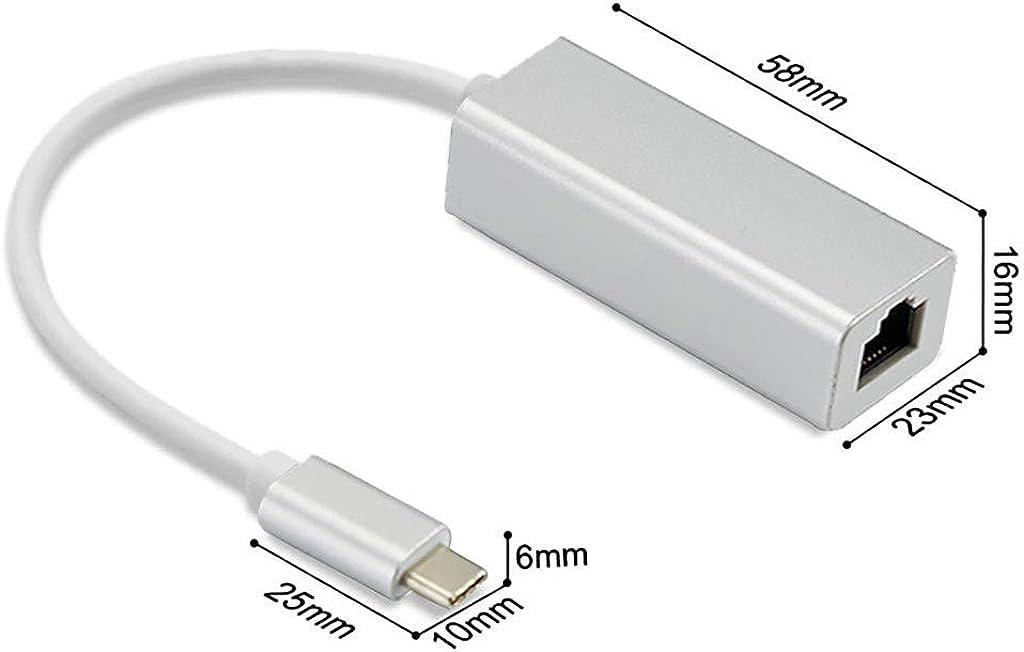 AckfulUSB C to RJ45 Ethernet Adapter USB 3.1 Type C Network ...