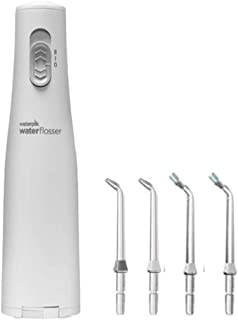 Waterpik WF02 Cordless Express Water Flosser and Replacement Plaque Seeker Tips Pack of 2. Deliver Water/Anti-Bacterial Solution Deep into Periodontal Pockets. Battery Operated, Portable & Waterproof
