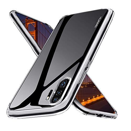 Ylife Hülle Kompatibel mit Huawei P30 Pro/P30 Pro New Edition,Anti-Vergilbung Slim Transparent Hochwertig TPU Weiche Handyhülle,Anti-Scratch Stoßfest Silikon Schutzhülle für Huawei P30 Pro