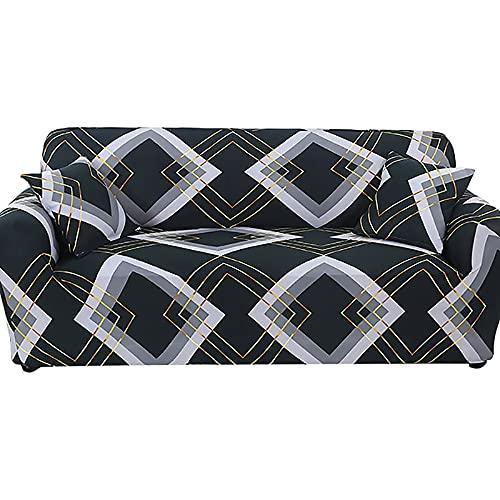 Funda de sofá elástica para Sala de Estar, Fundas de sofá seccionales, Protector de Muebles, Funda de sofá de Licra elástica A6, 4 plazas