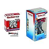Fischer Duoblade S 545676 - Tacos De Yeso Autoperforante, Incluye Tornillos, Tacos Para Placas De...