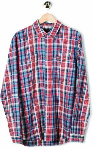 Etnies Herren Hemd Bakersfield Long Sleeve Woven, Dusty Blue, S, 4130002122