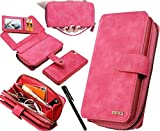 Urvoix for iPhone 6S Plus/iPhone 7 Plus/iPhone 8 Plus Case, Premium Leather Zipper Wallet Handbag Detachable Removable Magnetic Case with Flip Card Holder Cover for iPhone 8Plus/7Plus/6SPlus (5.5')