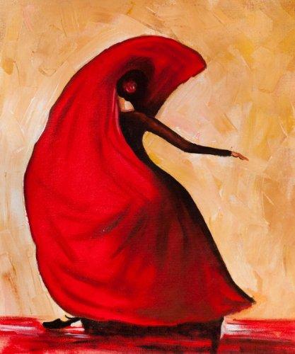 PLYBGC Pinte por Number Kit, Bailarina de Baile Flamenco Abstracto DIY Pintura por números con Pinceles y Pinturas Decoraciones para el Hogar sin Marco de 40x50cm