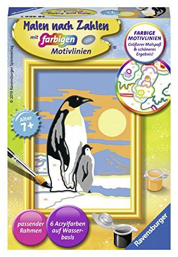 Ravensburger Malen nach Zahlen 28466 - Süße Pinguine - Für Kinder ab 7 Jahren