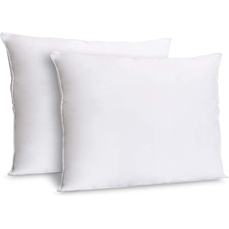 Amazon Com Acanva Pi Acv12 2p 12x12 Set Of 2 Soft Square Throw Inserts With Microfiber Filled Full Back Support Decorative Pillows Cushion With Smooth Cover For Sofa Bed Couch Chairs White