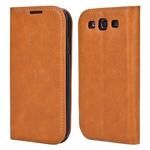 Mulbess Cover per Samsung Galaxy S3, Custodia Pelle con Funzione Stand per Samsung Galaxy S3 / S3 Neo Flip Case, Marrone