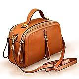 LBYMYB Mochila pequeña Bolso de Cuero Cuadrado Moda de Verano Capa Superior Cuero Mini Hombro Messenger Bag Bolso de Mano (Color : Earth Yellow)