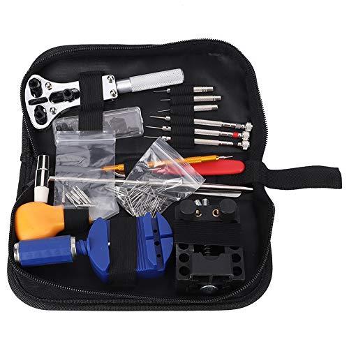 147PCs Set Kit de herramientas de reparación de relojes Pequeño, liviano, portátil, duradero, removedor de correas de reloj, para quitar conexiones, cambiar el tamaño de la correa.
