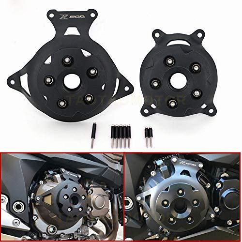 BEESCLOVER Motorrad-Motor-Statorabdeckung, Motorschutz, Seitenschild, für Kawasaki Z750 Z800 2013–2017, schwarz